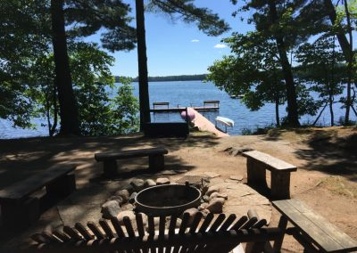Lake view from fire pit
